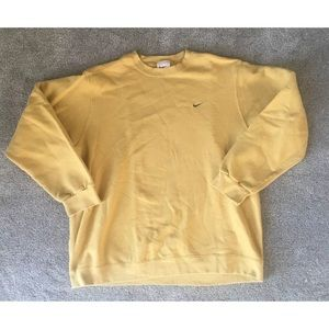 White tag Nike yellow mustard crewneck size XL